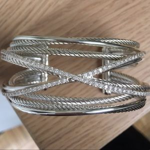 David Yurman Diamond Crossover Cuff medium size